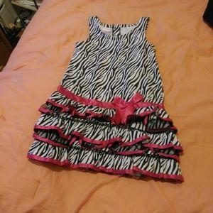Zebra print toddler dress